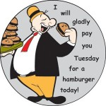 Have you paid for your hamburger?